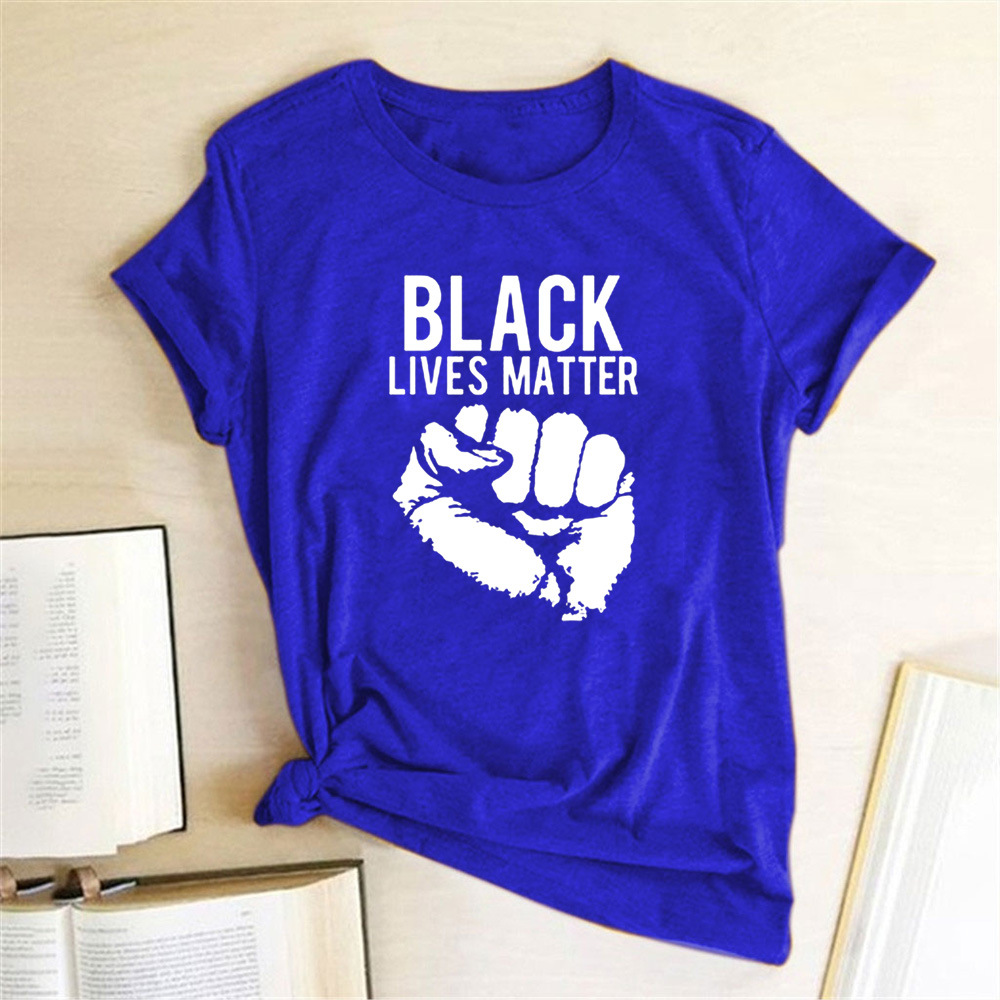 European And American Hot Selling Men's T-shirt BLACK LIVES MATTER And I Can't Breathe Men's short sleeve