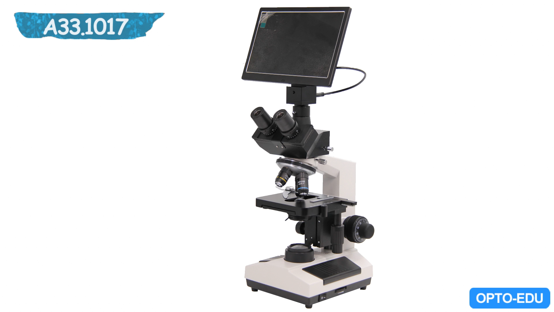 OPTO-EDU A33.1017 1000x xsz 107bn digital lcd microscope trinocular camera