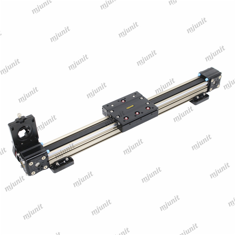 mjunit MJ40 toothed belt driven linear rail guideway with high precision for label heat press machine automation of two working
