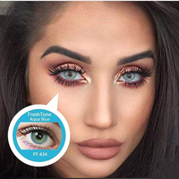 wholesale color contact lens Super Natural look 14.5mm 50 colors Korean soft cosmetic colored contacts freshtone contact lenses