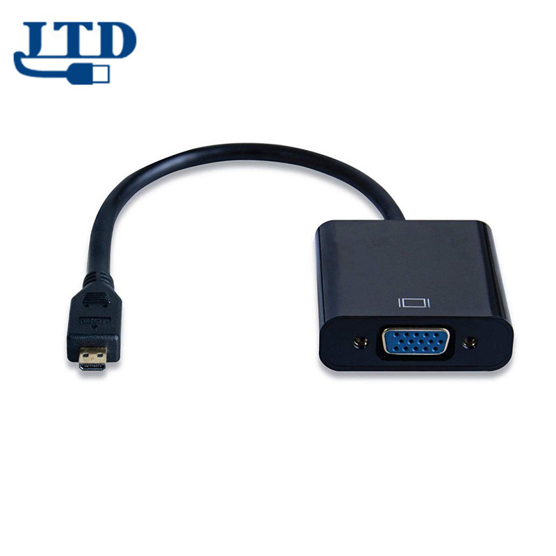 <strong>Micro</strong> <strong>HDMI</strong> <strong>to</strong> VGA Adapter Male <strong>to</strong> Female Cable Converter