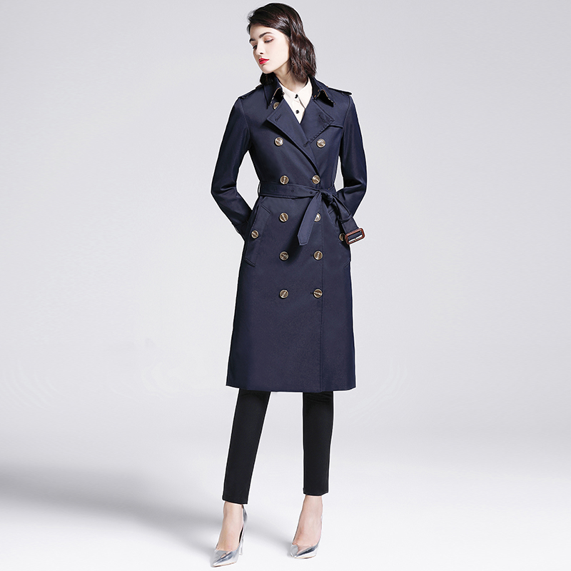 Newest fashion elegant young <strong>women</strong> long belt cotton <strong>trench</strong> <strong>coats</strong> <strong>for</strong> ladies