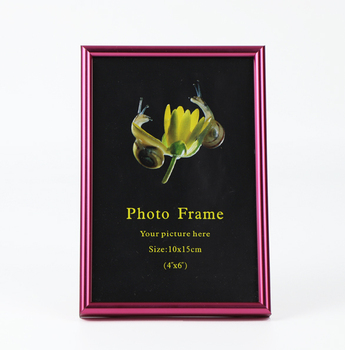 aluminum collection frame, colorful photo frame, red table photo frame