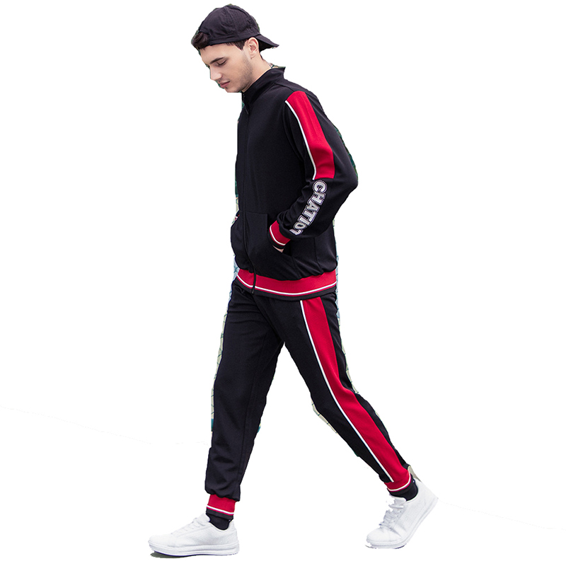 OEM Gym Zipper Up Jacket Sweatsuit Wholesale Men Jogger pant Tracksuits