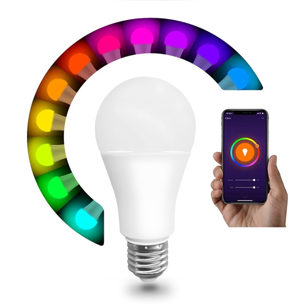 China Supply DSX Dimmable Rgb E26 free APP Smart Life Control Smart Wifi led Bulb light Wireless 2.4g No Hub required lighting