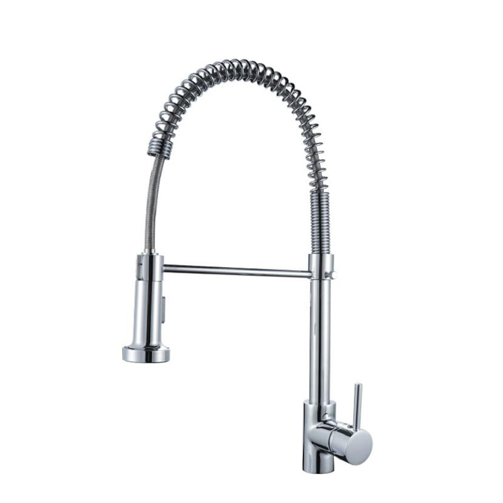 Brass material <strong>kitchen</strong> <strong>faucet</strong> with high arc <strong>spring</strong> and adjustable pull out sprayer pull down <strong>kitchen</strong> <strong>faucet</strong>