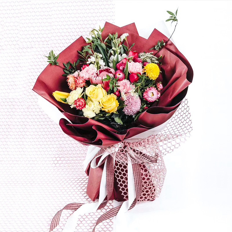 2020 Longsun Dekorative Blume Verpackung Mesh für Blume Wrapping Dekoration Geschenk DIY