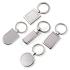 Key Ring Manufacturer Custom Logo Metal And Leather Personalized Sublimation Blank 3D Key Chain Ring
