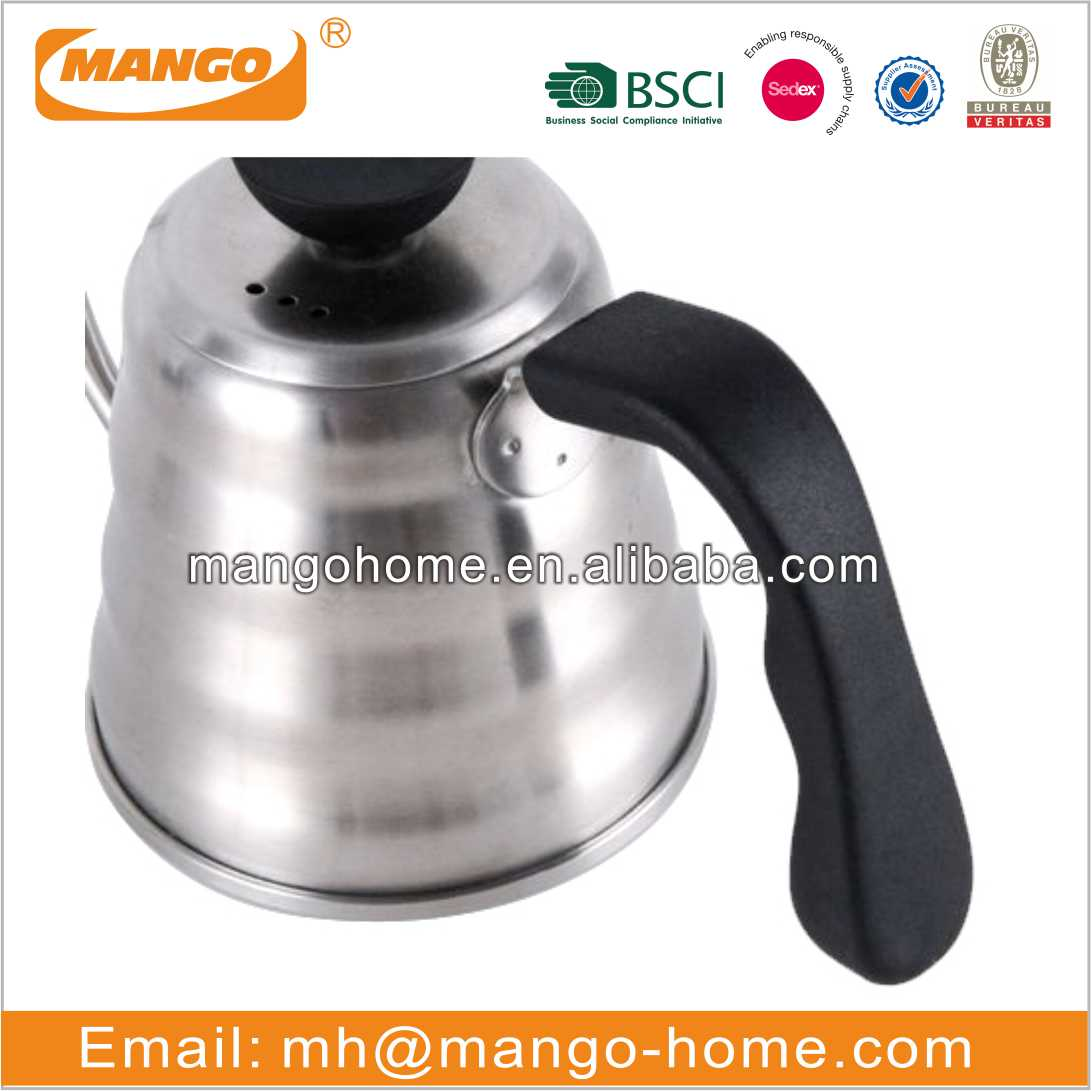 Stainless Steel Coffee Pour Over Kettle Cloud Shape Retro Coffee Pot Long Mouth Drip Gooseneck Kettle Coffee Pot
