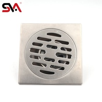 SVA-051 Stainless Steel Square Floor Shower Drain