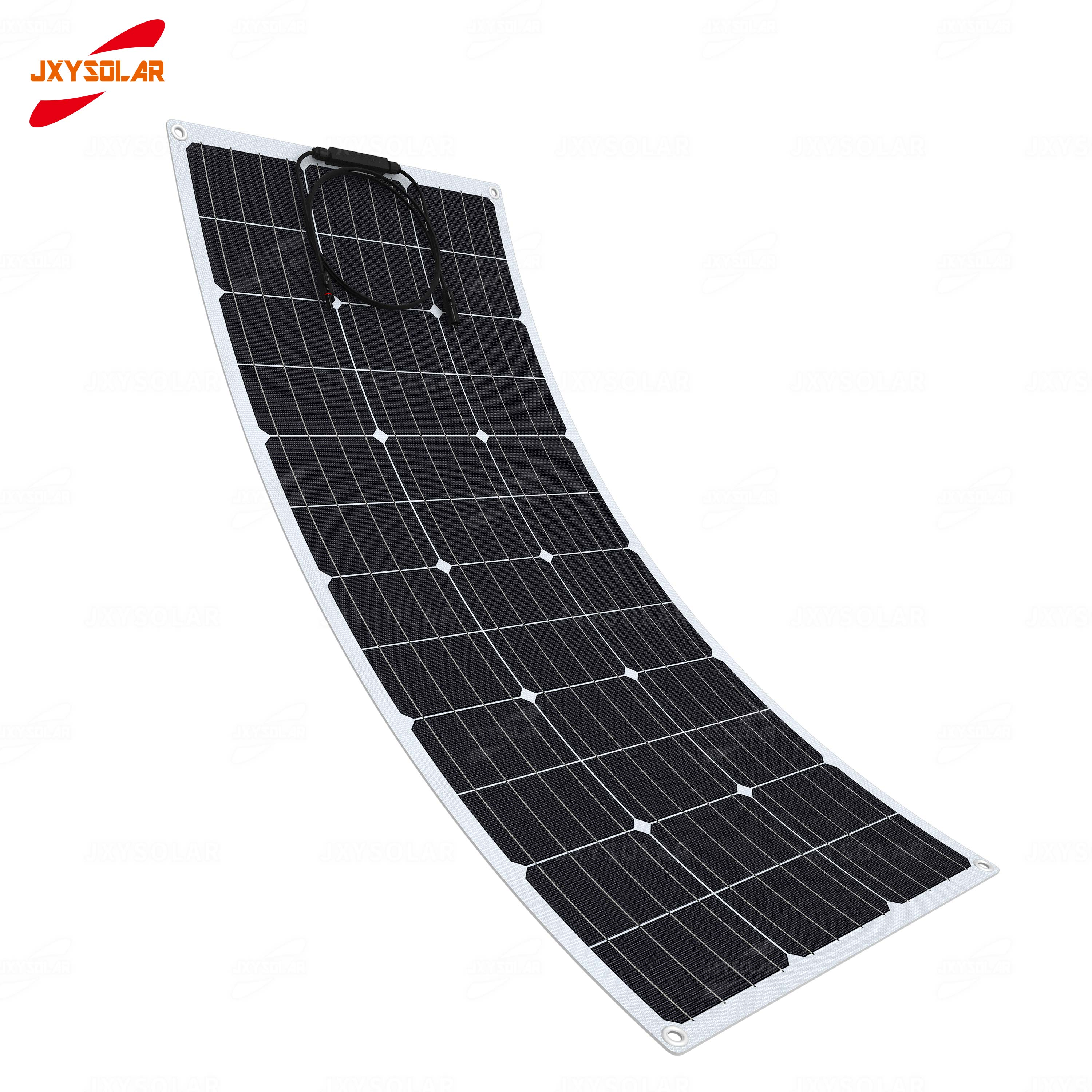 New Design 100W Mono Flexible and Lightweight Solar Panel For RV Yacht House