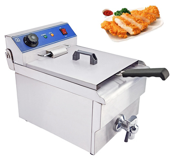 Potato chicken snacks small commercial use electric fryer with 6L oil capacity
