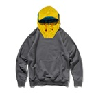 Men's fashion wear terry fleece OEM cover half face hoody