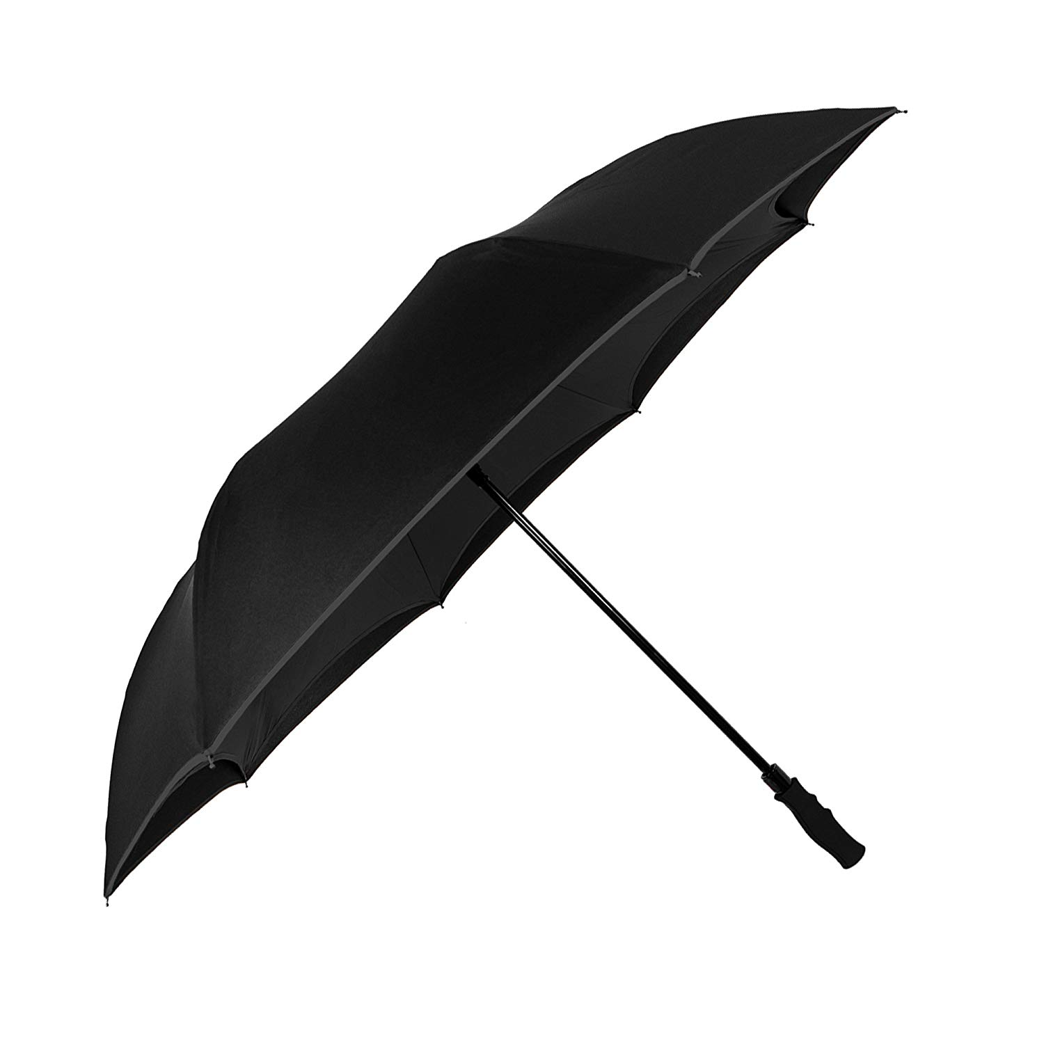 Hot sales reverse umbrella upside down windproof double layers fabric inverted umbrella with long handle