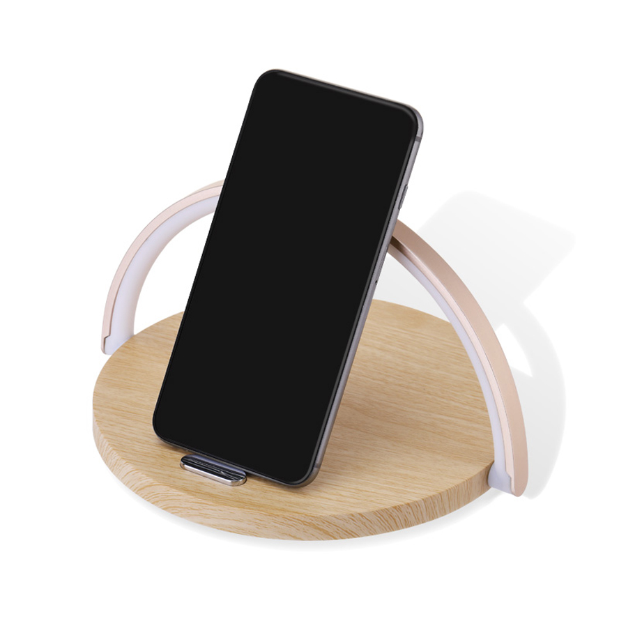 Multifunctional Night Light  10W Fast Wireless Charger Mobile Phone desk Lamp Table  lamp Used For Gifts/Office