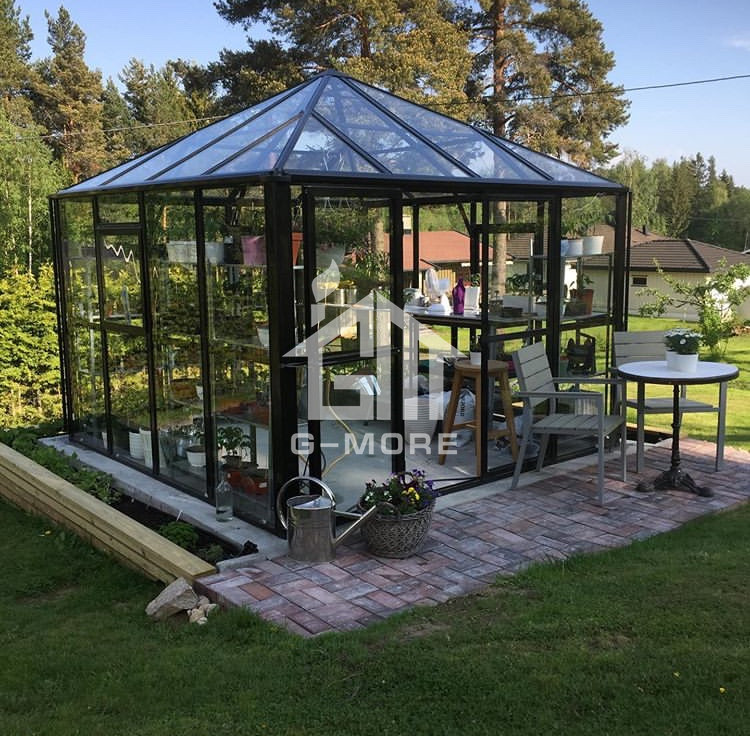 G-MORE Heavy Duty Aluminium Gazebo Modular Winter Greenhouse