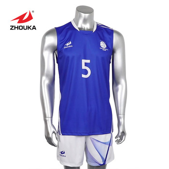 2019ZHOUKA top sale quick dry breathable volleyball jersey men