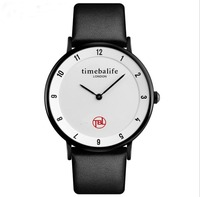 Time Beauty 1263 Fashion Casual Couple Watch Men's Student Leather Strap England Simple Quartz Watch