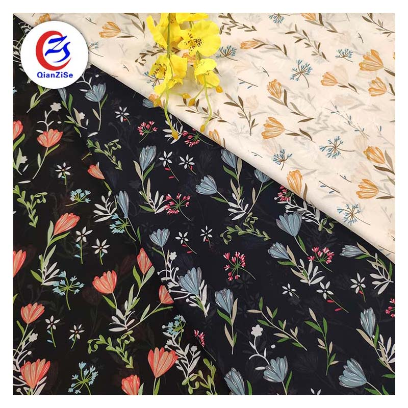 Top Quality Silk Manufacturer Digital Fabric Printing Screen Printed Satin Fabric
