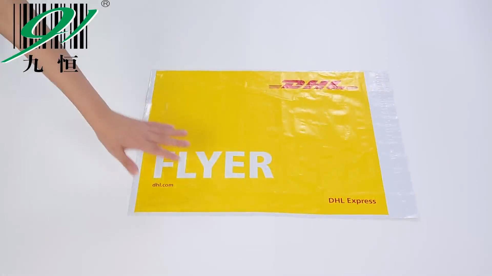 Jiuheng工場メーカー自己接着メーリングバッグポリメーラープラスチックカスタムパッキングクーリエバッグ