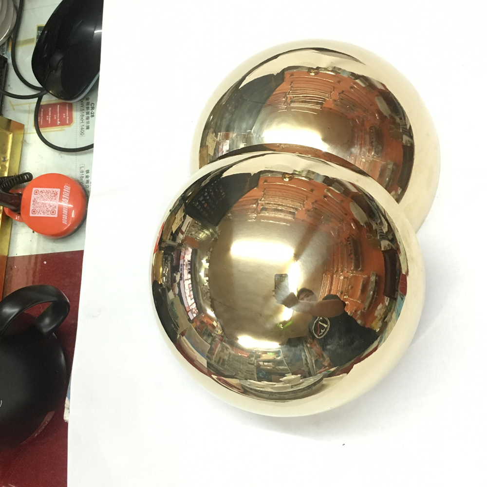 150mm brass half sphere Mirror polished hollow half balls brass 1.5mm thickness