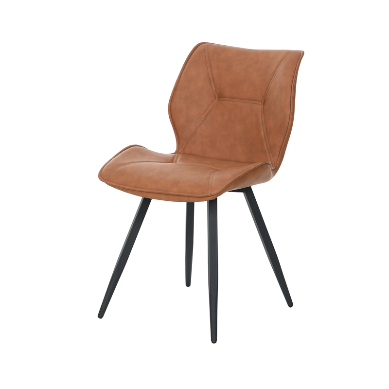 Provide oem odm service factory dining room furniture modern comfortable upholstered PU leather dining chair wholesale