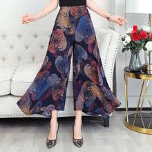 Женские свободные широкие брюки большого размера 2020 5XL с высокой талией, летние повседневные корейские клетчатые брюки с принтом(Китай)