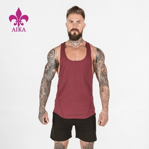 2019 Hot Selling Customized Mens Muscular Sportswear Vest Simple casual Fitness Tank Tops
