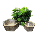 Pot Wood Flower Pot Planter Basket Seeding Tray For Garden Home Decoration Aero Pot