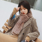 Fashion Winter real fur scarf women Knitted Rex Rabbit long collar