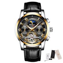 Мужские часы, автоматические механические турбийон, Роскошные, модные, брендовые, многофункциональные, мужские, спортивные часы, дата, луна,...(Китай)