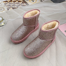 Commercio all'ingrosso <span class=keywords><strong>di</strong></span> Modo <span class=keywords><strong>di</strong></span> Colori BlingBling Scarpe <span class=keywords><strong>Delle</strong></span> <span class=keywords><strong>Donne</strong></span> <span class=keywords><strong>di</strong></span> <span class=keywords><strong>Inverno</strong></span> Caldo Neve <span class=keywords><strong>Stivali</strong></span> <span class=keywords><strong>di</strong></span> Pelliccia