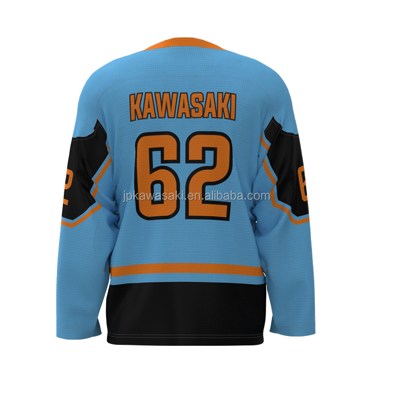 DIY Teamwear Logo Sublimated Cool Hockey Mesh Ice Practice Hockey Jerseys with Lace