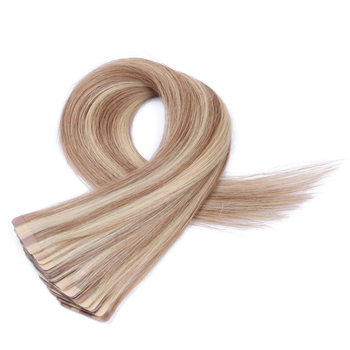 Free sample ash blonde tape in hair extensions