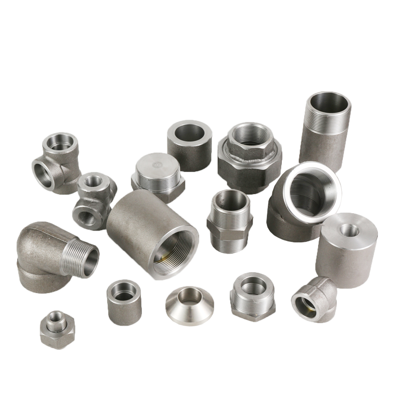 """1/8""""-4"""" Forged Threaded Fittings 45/ 90 Degree Elbow"""