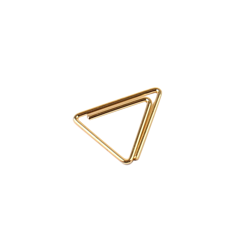direct factory custom golden different shaped metal paper clips