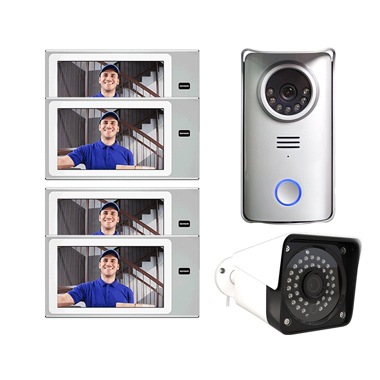 Asia, Europe, middle-east home security wide used high-end four wire video intercom system 1080P AHD camera night version  hot