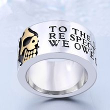 Новый посеребренный череп кольца для женщин Дамские модные ювелирные кольца обручальное кольцо для мужчин индивидуальное кольцо аксессуа...(Китай)