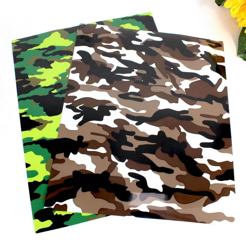 Einfach Unkraut Klebrige Trägerfolie Camouflage HTV T-shirt Vinyl Rolle Heattransfer Vinyl T hemd Vinyl Rollen