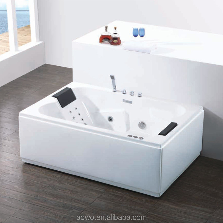 AO-6099 solid surface hydro massage spa jacuzzi with LED light luxurious bathroom soaking sexy bath hot tubs