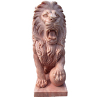 Graphic Customization Decorative Natural Carved Stone Animal Garden Marble Lion