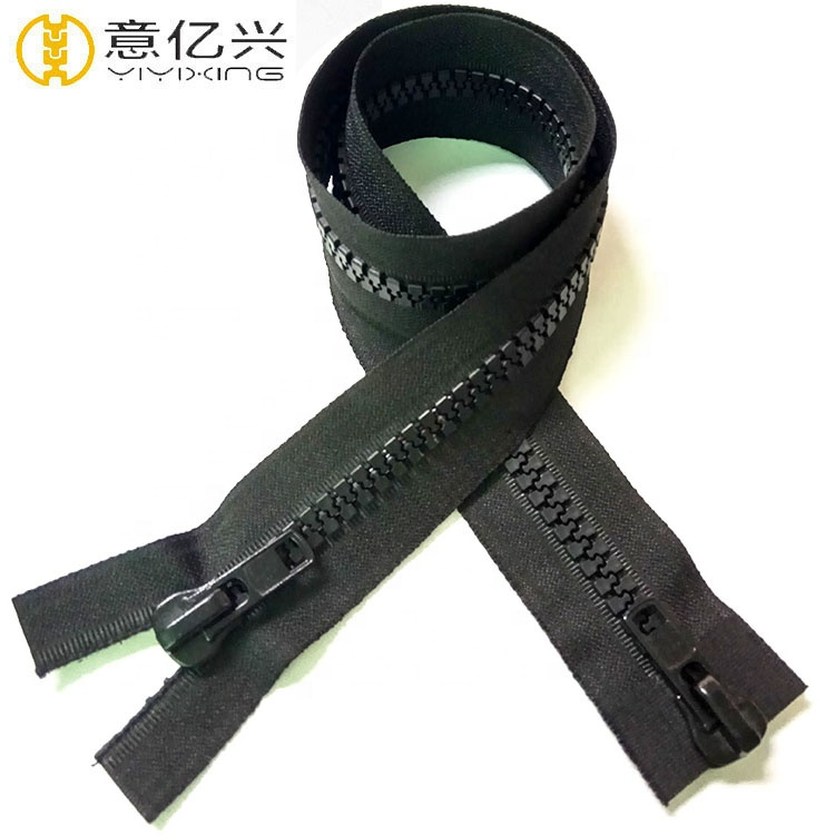 OEM 20 Inch Heavy Duty No 10 Plastic Zipper With Normal Teeth