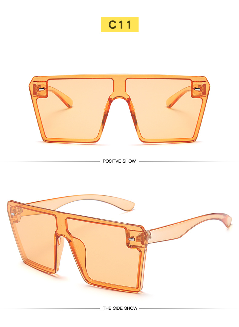 Fashion Sun Glasses wholesale one piece lens oversized square sunglasses women