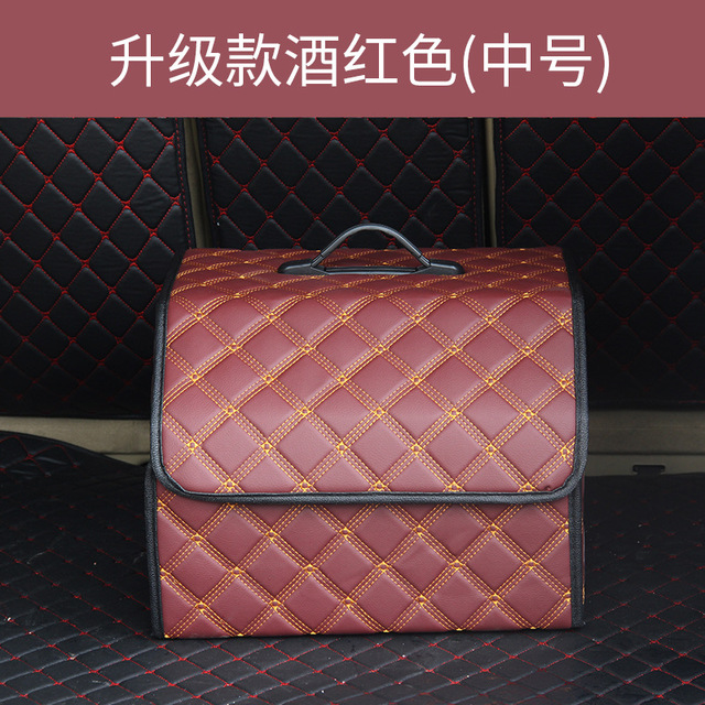Автомобильная сумка для хранения, складная сумка из искусственной кожи, органайзер для багажника, сумка для хранения, складная сумка для ба...(Китай)