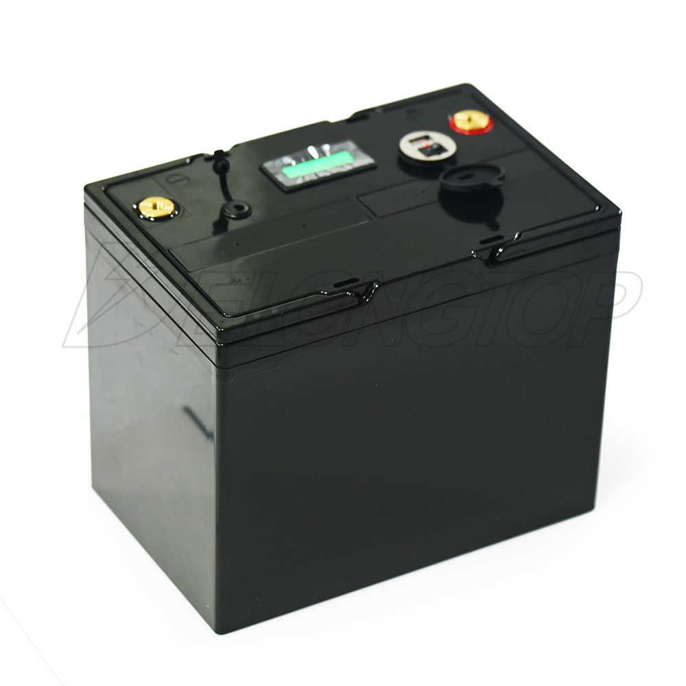 Lifepo4 Customized 12V 80Ah Battery Box+Voltage meter Show +USB+DC5521 Port  M6 bolt head with Basket