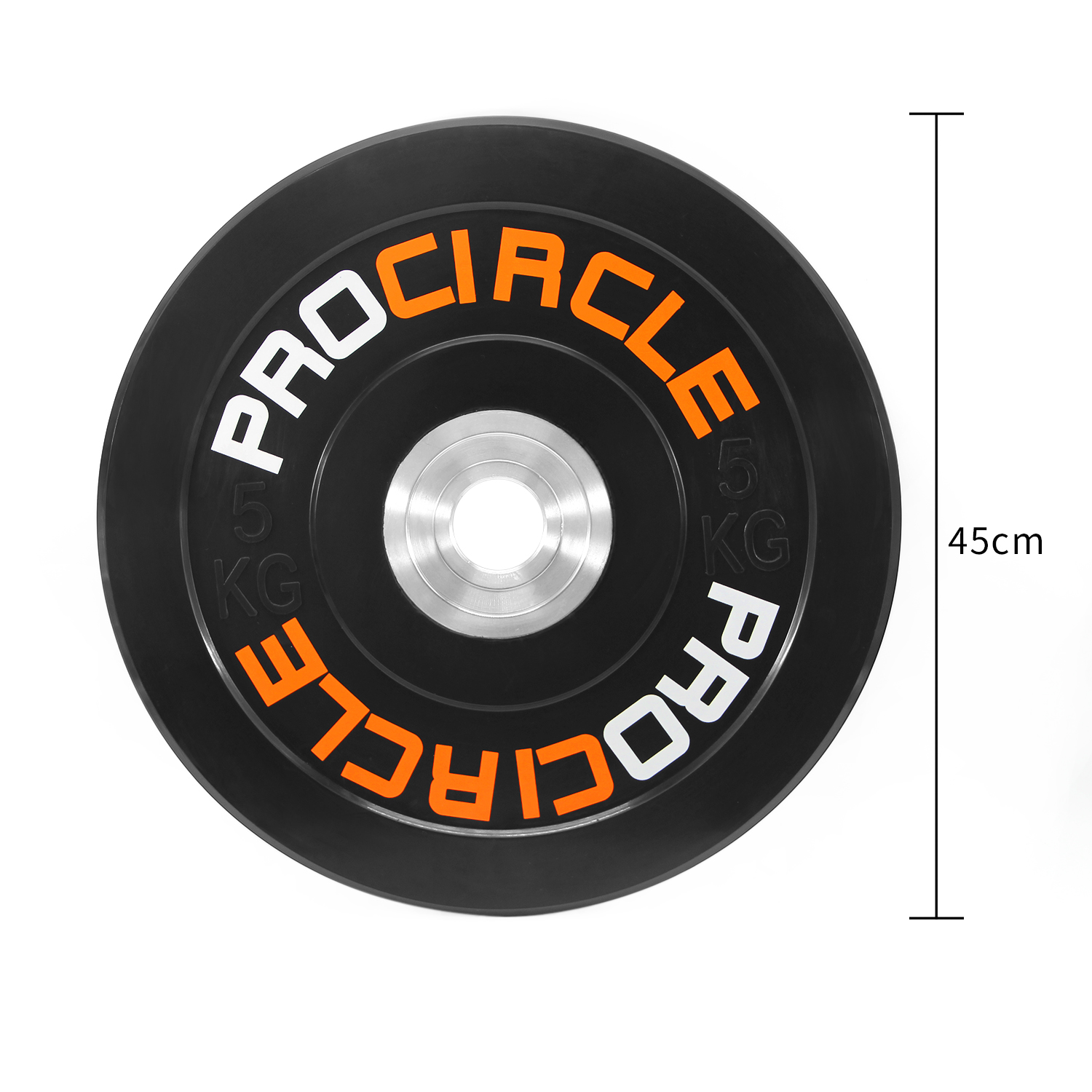 Fitness Olympic Bumper Plate For 5 Weights Available (10 to 45lbs)
