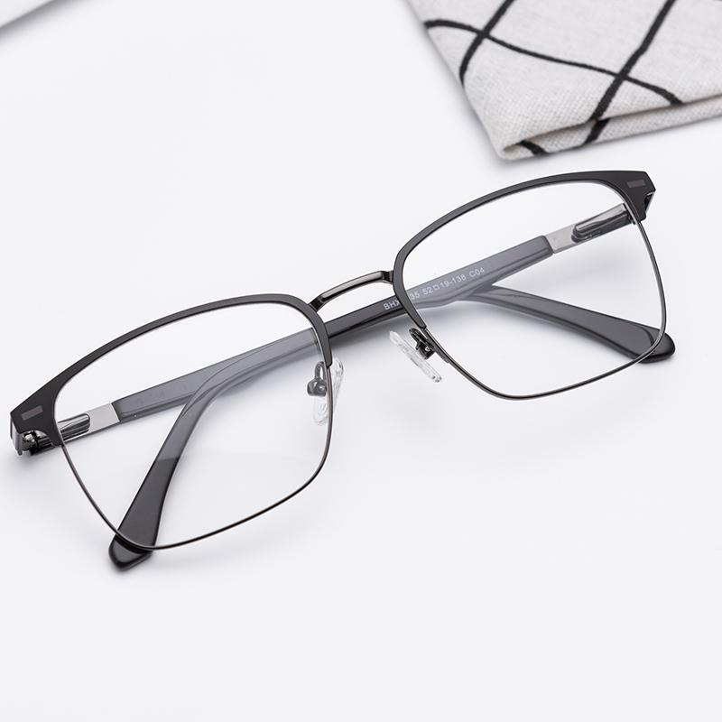 Metal Frame Glass Lenses Female Male Reading Glasses Women Men Unisex Eyewear
