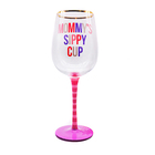 OEM/ODM Mother's Day Hand Painted Wine Glasses with Golden Rim