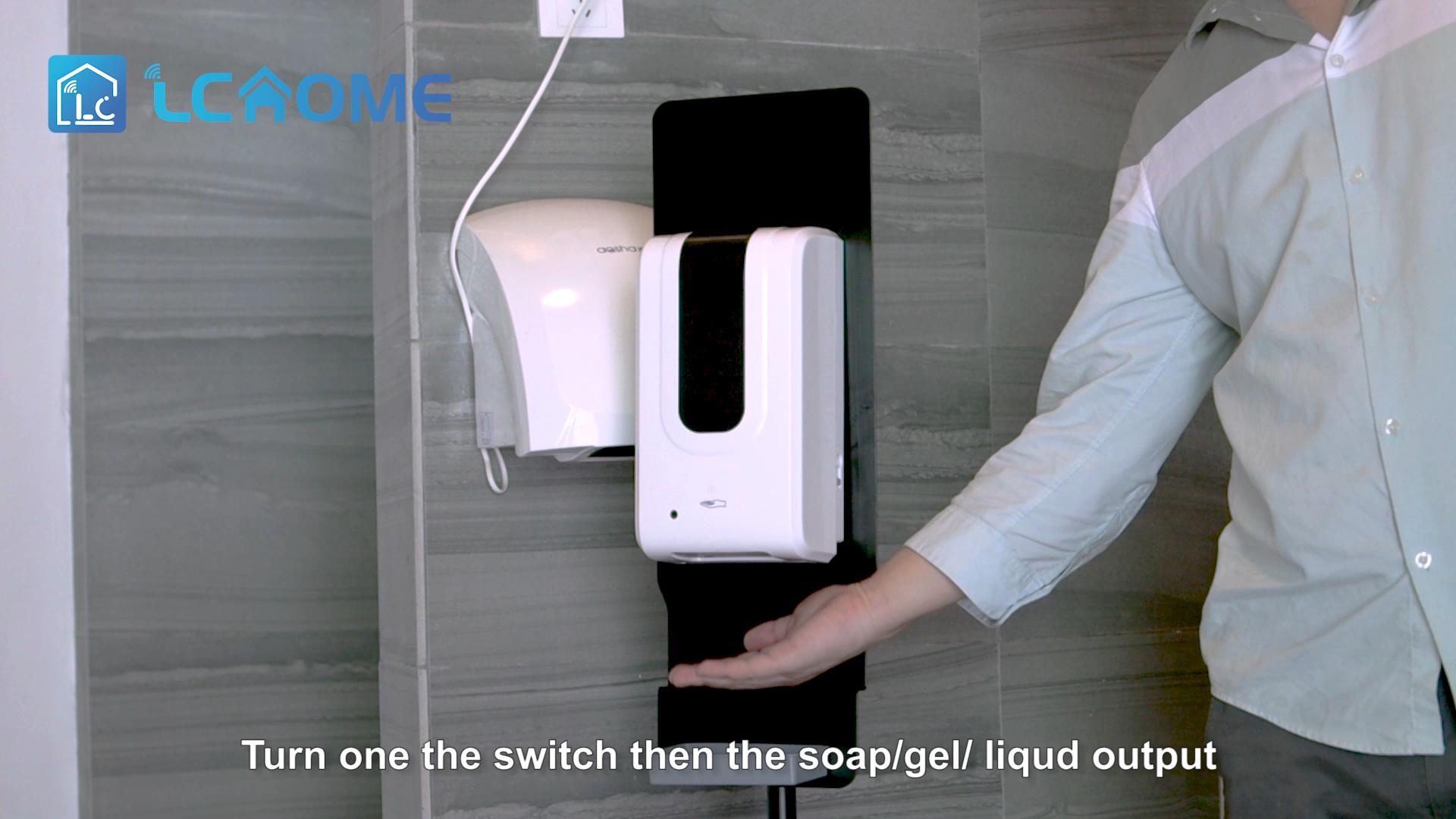 LC-05-1200ML-Stand desinfectante de mano dispensador de soporte