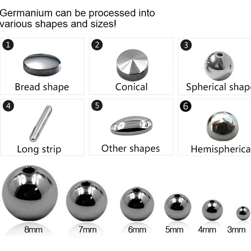 Wholesale High Quality 99.999% pure germanium ball germanium beads stone jewelry accessories
